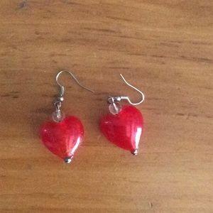 ❤️Heart shaped glass earrings ❤️